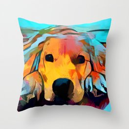 Golden Retriever 4 Throw Pillow