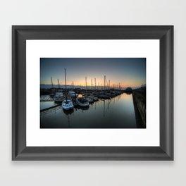 Lowestoft Marina at dawn  Framed Art Print