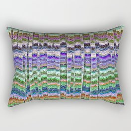 Textured Mosaic Layers Rectangular Pillow