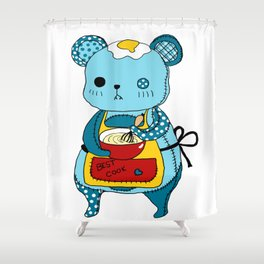 """Kookie"" The Bear Shower Curtain"