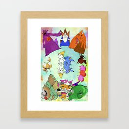 A Point in Every Direction Framed Art Print