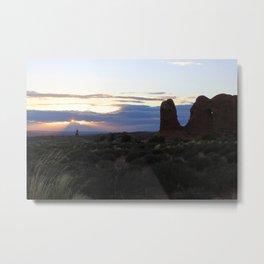Utah Sunset Landscape Metal Print