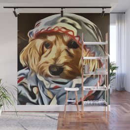 Copper the Havapookie with Blanket Wall Mural