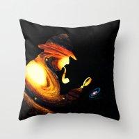 sherlock holmes Throw Pillows featuring Sherlock Holmes  by nicebleed