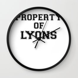 Property of LYONS Wall Clock