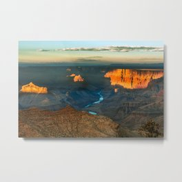 Grand Canyon at sunset Metal Print