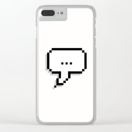 nothing ...literally nothing Clear iPhone Case