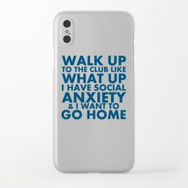 "Request-""What Up"" Clear iPhone Case"