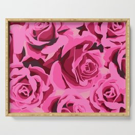 Rose Explosion Serving Tray