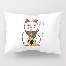 Maneki Neko - lucky cat Pillow Sham