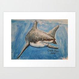 Fun Art Friday:Shark Art Print