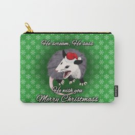 Christmas Opossum Carry-All Pouch