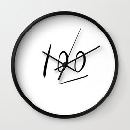 100 typography Wall Clock