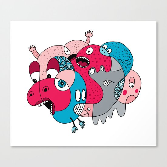 Rhino-Splat Canvas Print