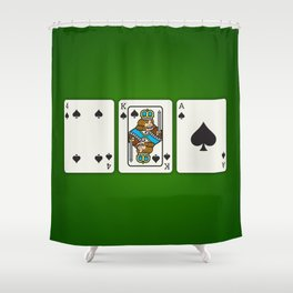 Four King Ace Shower Curtain