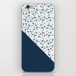 Indigo Triangles #society6 #pattern #indigo iPhone Skin