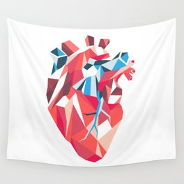 Poligon Heart Wall Tapestry