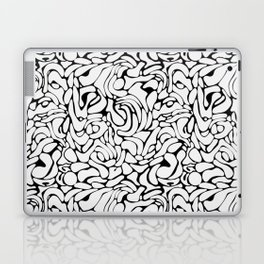 Abstract marble black and white Laptop & iPad Skin