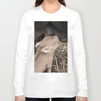 piglet Long Sleeve T-shirts featuring Piglet by Rachel's Pet Portraits