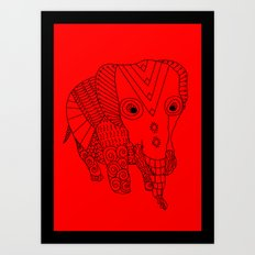 Elephant of the Day Art Print