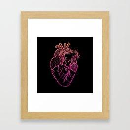 Designer Heart Colors Framed Art Print