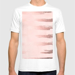 Rosegold Pink Stripes T-shirt