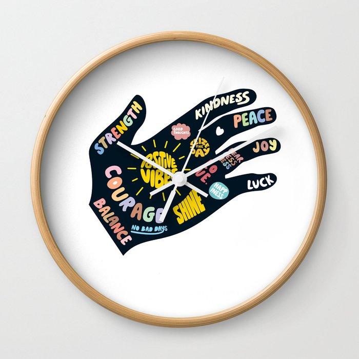 Positivity – Helping Hand Wall Clock