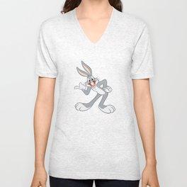Funny Bugs Bunny :) Unisex V-Neck