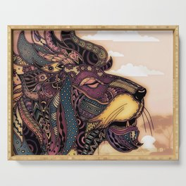 Lion king of the jungle Serving Tray