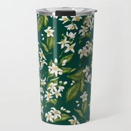 Citrus Blossom Pattern Travel Mug