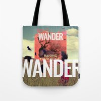 wander Tote Bags featuring WANDER by Christel Sayegh