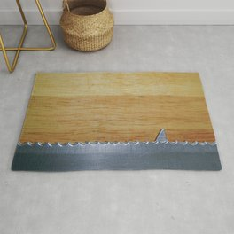 Shark infested breadboard Rug