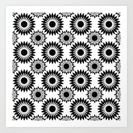 Black and white abstract pattern . 5 Art Print
