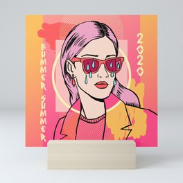 Bummer Summer Gurl Mini Art Print