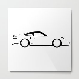 Fast Car Outline Metal Print