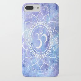 Om Mandala Lavender Periwinkle Blue Galaxy Space iPhone Case