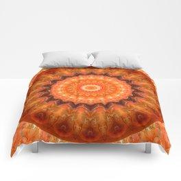 Mandala orange brown Comforters