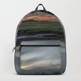 Ocean River Sunset in Essex Backpack