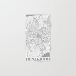 Christchurch Map Line Hand & Bath Towel