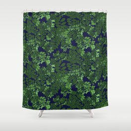 Moringa in blue and green Shower Curtain