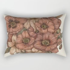 Poppies and Lilies Rectangular Pillow