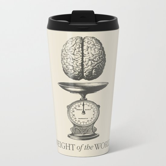 Weight of the World Metal Travel Mug