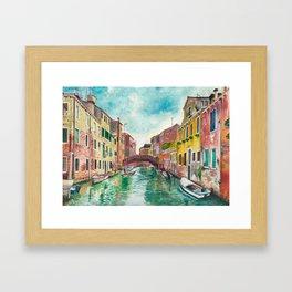 Venezia Watercolor Framed Art Print