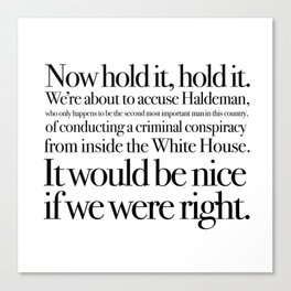 quoting Hollywood 1 Canvas Print