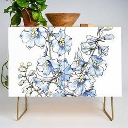 Blue Delphinium Flowers Credenza
