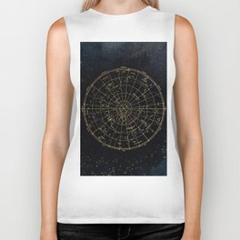 Golden Star Map Biker Tank