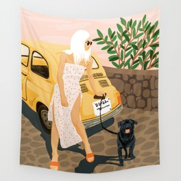 Tour #illustration Wall Tapestry
