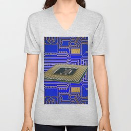 processor cpu board circuits Unisex V-Neck