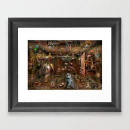 Dream space Chaos Framed Art Print
