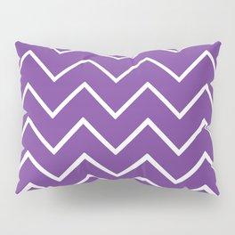 Purple Zigzag Chevron Pattern Pillow Sham